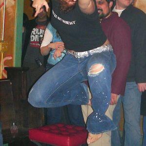 J. Crew artist paint splatter distressed jeans